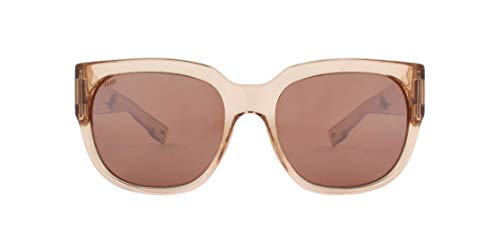 Costa Del Mar - Waterwoman - Shiny Blonde Crystal Frame-Copper Silver Mirror 580 Poly Polarized ()
