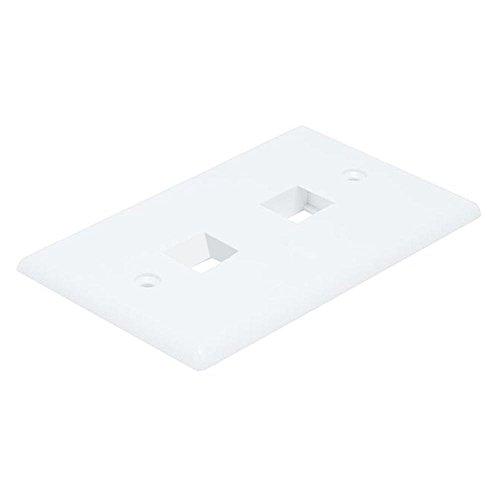 Wall Plate Plates 2 Hole - Monoprice 106727 2-Hole 1-Gang Keystone Wall (2 Pack)