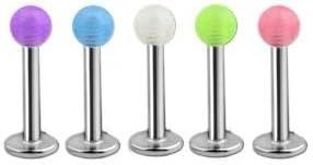 "Acrylic Ball Labret  Monroe Lip 14g 3//8/"" 316L Yellow"