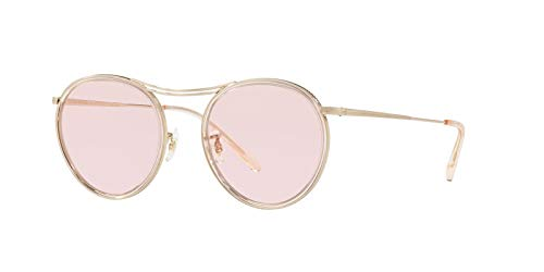 Oliver Peoples OV1219S - 52364Q Sunglasses Brushed Gold w/ Pink Photocromic ()