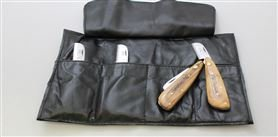 Chris Christensen Folding Pocket Stripping Knife (Set of 4)
