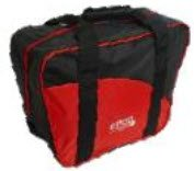Epco Aurora Soft Pack Combo Bowling Ball Bags - Ball/Shoes - Black & Red by Epco