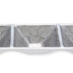 3-Part Server, 12-Inch, Platinum, Silver (Gold Three Part Serving Dish)