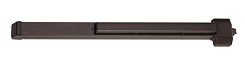Von Duprin 22EO Rim Mounted Exit Device from The 22 Series for 3' Wide Doors, Sprayed Dark Bronze Finish ()