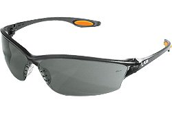 MCR Safety LW212AF Law 2 Anti-Fog Glasses with Temple Inserts, Gray, Gray (Pack of 12)