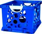 Storex 61767U03C 2-Color Crate with Handles, Large, Blue/White