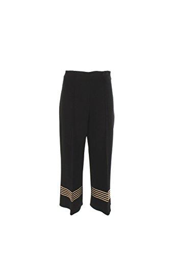Pantalone Donna Elisabetta Franchi 42 Nero Pa9364012 Autunno Inverno 2016/17