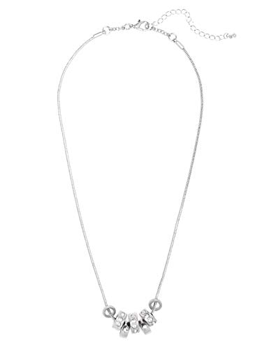 GUESS Factory Women's Silver-Tone Beaded Necklace - Silver Tone Beaded Necklace