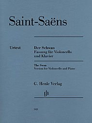 G. Henle Verlag The Swan From The Carnival Of The Animals for Violoncello And Piano Carnival Of The Animals Score