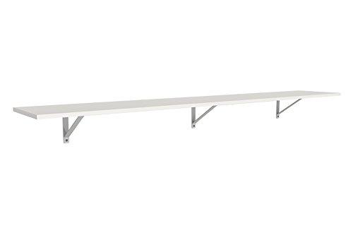 ClosetMaid 3304840 Wood Shelf Kit, 6-Foot X 12-Inch, White (6 Shelf Foot)