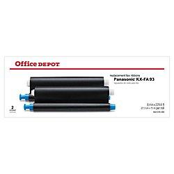 Office Depot KX-FA93 (Panasonic KX-FA93) Thermal Fax Ribbon, Pack Of 2, 1440
