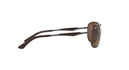 84dac1c3c4 Ray-Ban Polarized RB3519 Sunglasses - Matte Gunmetal Frame Brown Lens