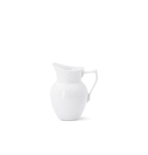 Royal Copenhagen White Fluted Plain Creamer 13 oz.