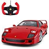 - Radio Remote Control 1/14 Scale Ferrari F40 Licensed RC Model Car w/Front Light Controller Open/Close(Red)