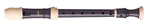 Aulos 700095 C-Sopran Blockflöte Symphony Mod.503B barocke Griffw.braun, komplett mit Tasche, Wischerstab, Fettdose und Grifftabelle