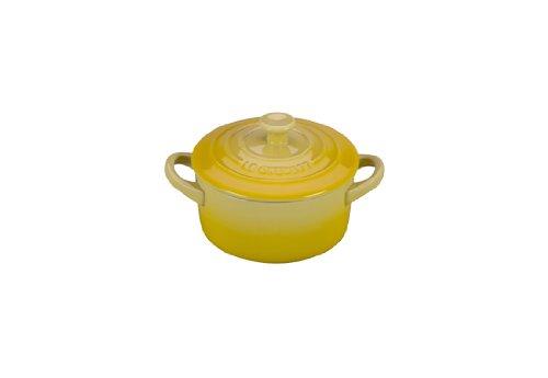 Le Creuset Stoneware Petite Round Casserole, 8-Ounce, Soleil
