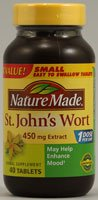 Wort Nature Made St. John, Capsules 450mg - 40 comptage