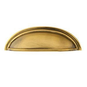 Emtek 86123 Brass Cup 3 Inch Center to Center Cup Cabinet Pull from the American, Polished Nickel