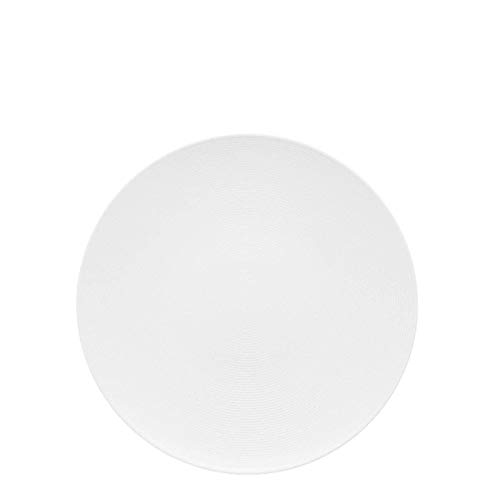 Thomas Rosenthal Loft White Dinner Plate – Modern Dinnerware Made of Porcelain – Unique Design with Concentric Lines – 11 inch