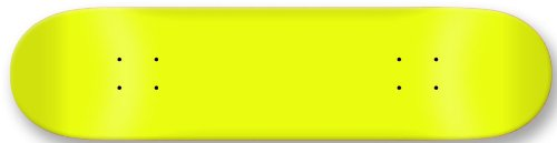 Moose Blank Skateboard Deck, Neon Yellow, 7.75-Inch
