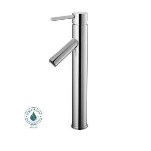 (Glacier Bay Single Hole 1-Handle High-Arc Bathroom Vessel Faucet in)