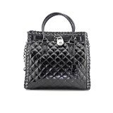 Michael Kors Hamilton Hippie Grommet Large North South Tote Quilted Black Leather by Michael Kors