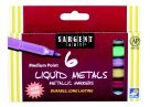 Sargent Art Liquid Metals Metallic Markers - Medium Point44;