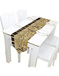 ALAZA Vintage Music Note Piano Table Runner Placemat