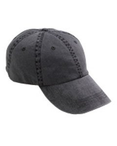 Anvil Womens 6-Panel Pigment-Dyed Twill Cap (145) -Black -One