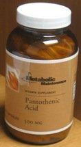 Métabolisme Acide pantothénique Maintenance - 500 mg - 250 Capsules