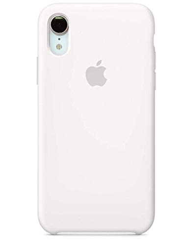 iPhone iPhone XR Liquid Silicone Case Fits iPhone XR (6.1 inch), Gel Rubber Protection Shockproof Cover Case with Soft Microfiber Cloth Lining Cushion (White)