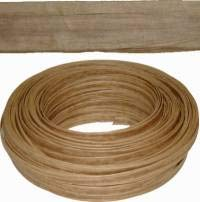 "Kraft Brown Art Fiber Flat Chair Seating Weaving Coil 1/2"" Diameter - Upholstery Supplies, Chair Seat Surface Replacement, Weaving Supply for Dining & Other Chairs H-7634"