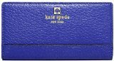 Kate Spade New York Southport Avenue Stacy Pebbled Leather Wallet (Holiday Blue)