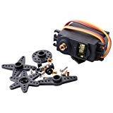 (CTYRZCH MG995 Standard Mini Micro Servo Gear for RC Futaba HPI Savage XL Helicopter Plane Boat Car Model)