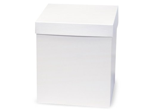 Pack of 50, White Gloss Hi-Wall 8 x 8 x 9'' 100% Recycled Giftware Box Base Use Food Safe Barrier Like Food Grade Tissue or Cello for Food Packaging(Lids Sold Separately) by Generic