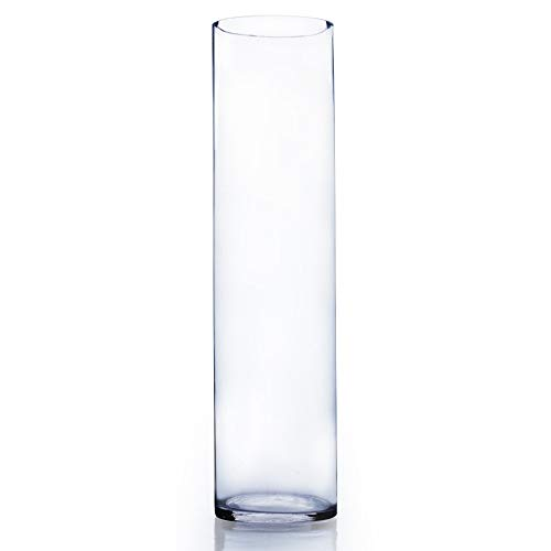 WGV Clear Cylinder Glass Vase 5 by 20-Inch