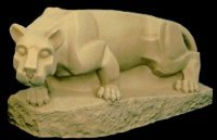 Penn State Nittany Lion Outdoor Statue - Vinyl, 36 inch - Sandstone Finish