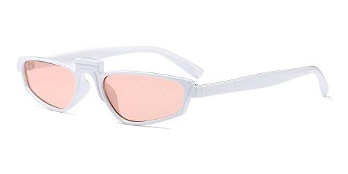 Sol Gafas Gafas Unisexo Blanco de Rectangular Fiesta Clásico Steampunk Fuyingda Rosa Mujer Retro Hombre Moda vxnqR7w