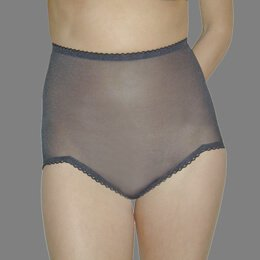 Rago Women's V Leg Light Weight Control Brief Panty, Black, X-Large (32)