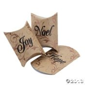 Small Pillow Boxes - 24 CHRISTMAS HOLIDAY SMALL PILLOW BOXES ~ HOPE JOY & NOEL ~ PARTY FAVOR BOXES ~ FANCY AND ELEGANT