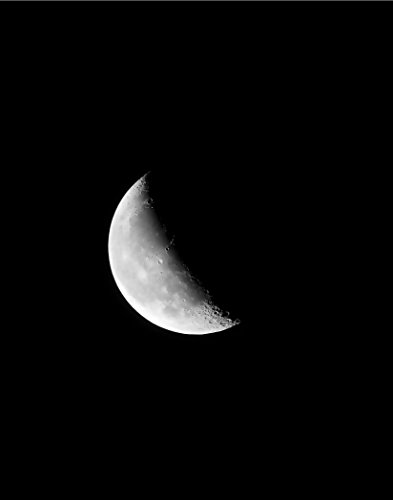 wall-art-decor-moon-crescent-night-sky-poster-print-11-x-14-inches-black-white-grey-color-wall-decor