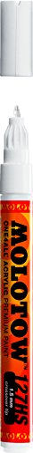 Molotow ONE4ALL Acrylic Paint Marker, 1.5mm, Signal White, 1 Each (127.411)