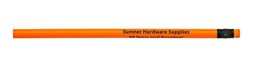 Pencil Guy Promotional Personalized Imprinted Neon Round Pencils- 500 per Box -