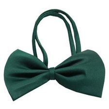 Mirage Pet Products 48-32 EG Plain Bow Tie, Emerald Green...