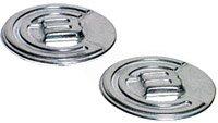 Burton Custom Logo Aluminum Mat Stomp Pad, 2 inch round - chrome (Burton Logo Mat Aluminum)