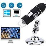 Buywell 1000x Magnification Endoscope, 8 LED USB 2.0 Digital Microscope,Mini Camera with Metal