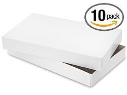 10 Shirt Boxes for Apparel and Gifts (White Matte) - Cheap Shirt Boxes
