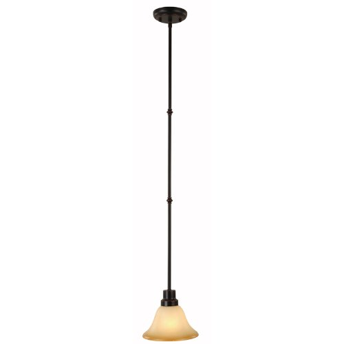 Hardware House Bristol Series 1 Light Oil Rubbed Bronze 7-1/4 Inch by 44 Inch Mini-Pendant Ceiling Lighting Fixture : 16-7550