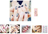 6 Different Sheets Nail Design Manicure Nail Polish Strips Nail Wraps Gel Nail Stickers/Bling Bling Cubic Stickers 1
