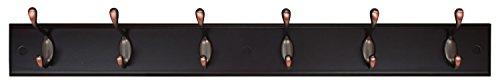 Kiera Grace Connor Coat Rack, 6 Oil Rubbed Bronze Hooks, 27-Inch, Espresso by Kiera Grace